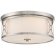 Possini Euro Ribbey 15 inch Wide Brushed Nickel Ceiling Light