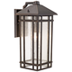 J du J Sierra Craftsman 16 1/2 inch High Outdoor Wall Light