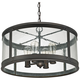 Capital Dylan Glass 22 inch Wide Bronze Outdoor Hanging Light