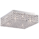 Velie 12 inch Wide Square Crystal Ceiling Light