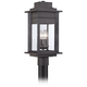Bransford 19 1/2 inch High Black-Specked Gray Outdoor Post Light