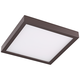 Disk 8 inch Wide Bronze Square LED Indoor-Outdoor Ceiling Light