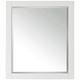 Avanity White 28 inch x 32 inch Decorative Vanity Mirror