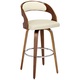 Shelly 30 inch Cream Faux Leather Swivel Bar Stool