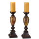 Kathy Ireland Mulholland 16 inch High Pillar Candle Holders Set of 2