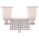 Quoizel Nicholas 10 inch High Brushed Nickel 2-Light Wall Sconce