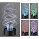 3D Illusion 8 1/2 inch High LED Spiral Novelty Accent Lamp