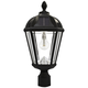 Royal Bulb 18 inch High Black Solar LED Outdoor Pier-Mount Lamp