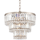 Magnificence Satin Nickel 14 1/4 inch Wide Crystal Chandelier