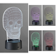 3D Illusion 8 1/2 inch High LED Skull Novelty Accent Lamp