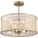 Sara's Jewel 17 inch Wide Champagne Silver Ceiling Light