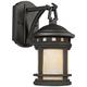 Sedona 10 3/4 inch High Amber Glass Bronze Outdoor Wall Light