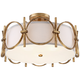 Francis 18 1/4 inch Wide Gold Drum Ceiling Light