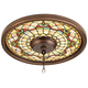 Tiffany Tracery 16 inch Wide Bronze Finish Ceiling Medallion