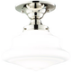 Hudson Valley Petersburg 9 1/2 inch Wide Nickel Ceiling Light