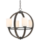 Keefe 22 inch Wide 4-Light Orb Chandelier by Franklin Iron Works