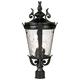 Casa Marseille™ 25 inch High Black 4-Light Outdoor Post Light