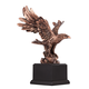 Perched American Eagle 11 1/2 inch High Table Sculpture