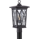 Quoizel Grover 20 1/2 inch High Mystic Black Outdoor Post Light