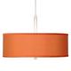 Orange Faux Silk 16 inch Wide Pendant Light