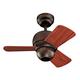 24 inch Micro Roman Bronze Finish Ceiling Fan