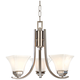 Agilis 20 inch Wide 3-Light Brushed Nickel Mini Chandelier