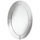 Carlita Beveled 23 3/4 inch x 36 inch Oval Frameless Mirror