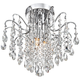 Acryllis 11 3/4 inch Wide 3-Light Chrome Ceiling Fixture