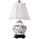 Lily Covered 19 inch High Porcelain Jar Accent Table Lamp