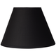 Black Table Lamp Clip Shade 6x12x8.5 (Clip-On)
