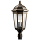 Kichler Courtyard 27 inch High Bronze Outdoor Post Light