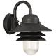 Marlex Nautical 13 inch High Black Outdoor Wall Light