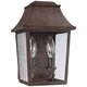 Feiss Este 10 3/4 inch High Patina Copper Outdoor Wall Light