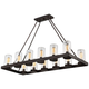 Savoy House Inman 45 inch Wide Bronze Damp Rated Outdoor Island Light Pendant