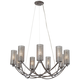 Varaluz Casablanca 32 inch Wide Hand-Applied Steel Chandelier