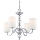 Quoizel Downtown 4-Light 22 inch Wide Chrome Chandelier