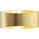 Holtkoetter Voila 9 1/4 inch Wide Brushed Brass Wall Sconce