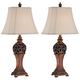 Exeter 30 inch High Wood Finish Table Lamps - Set of 2