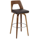 Trilogy 30 inch Chocolate Faux Leather Barstool