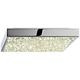 Sonneman Dazzle 10 inch Wide Square Chrome LED Ceiling Light