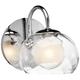 Elan Niu 6 inch High Chrome and Optic Glass Wall Sconce