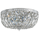 Crystorama Big Basket Crystal 12 inch Wide Chrome Ceiling Light