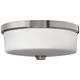 Hinkley Foyer 17 inch Wide Brushed Nickel Ceiling Light