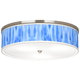 Blue Tide Giclee Nickel 20 1/4 inch Wide Ceiling Light