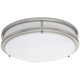 Zaire Brushed Nickel 14 inch Wide Cool White LED Ceiling Light