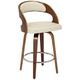 Shelly 25 3/4 inch Cream Faux Leather Swivel Counter Stool