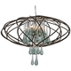 Varaluz 24 inch Wide Area 51 Recycled Glass Pendant Light