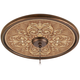 Antiquity Clay 24 inch Wide Bronze Finish Ceiling Medallion