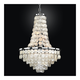 Bayside 19 inch Wide Silver Pearl Capiz Shell Chandelier