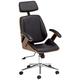 Tatulli Modern Black Faux Leather Swivel Office Chair
